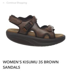 WOMEN'S MBT KISUMU 3S BROWN SANDALS